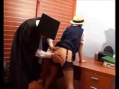 Caned in schooluniform