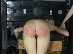 Cute young bisexual bdsm girls love getting spanked hard in the dungeon