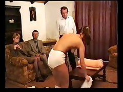 Czech schoolgirl hard spanked by teachers