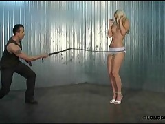 Full body whipping with Nicole in a sexy lingery.