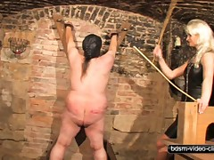 Caning a Fat Slave
