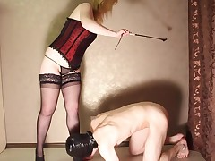 Slave footfetished, busted, spanked