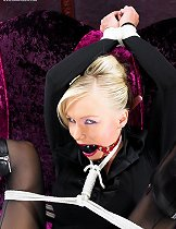 Blonde bound and gagged