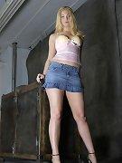 Blonde slave tied on the floor