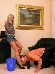 Office submissive boy