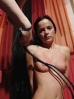 <!–-IMAGE_COUNT-–> of Mistress cracked down on her with a whip attack
