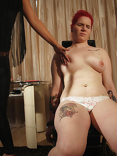<!–-IMAGE_COUNT-–> of Mistress Lyla Star painful whipping slave Lussy's tits