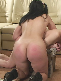 <!–-IMAGE_COUNT-–> of Hard Spanking with Horsewhip