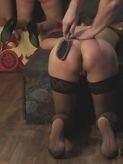 <!–-IMAGE_COUNT-–> of Laura`s Spanking with Hairbrush