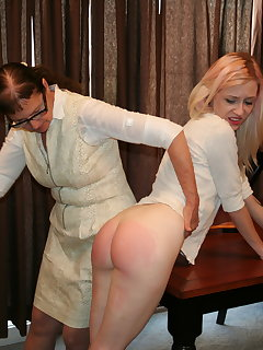 <!–-IMAGE_COUNT-–> of Violet October and Eve Howard in Motivational Spanking