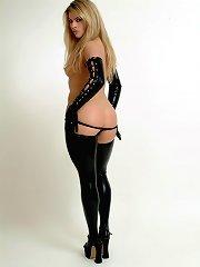 Hot blonde dominatrix