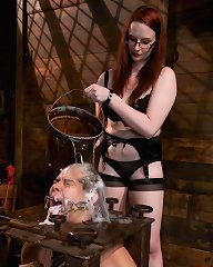 Tough as iron dominatrix tests male submissive\'s manhood with heavy corporal punishment, intricate bondage and intense CBT!