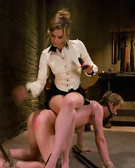 Gorgeous Dominatrix Cattle Prods slave and ass fucks him