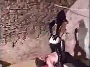 She sagged by her ass on slave's face