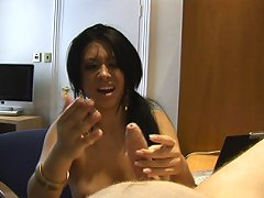 Vixen gives pathetic boyfriend merciless cbt with ruler
