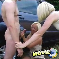 Outdoor cfnm jerking