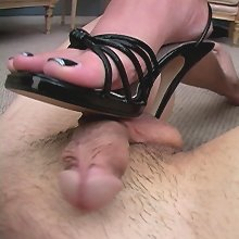 Cock trampling and footjob