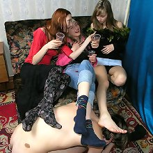Slave foot dominated and humiliated