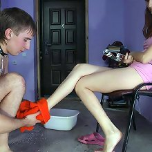 Foot slave humiliated