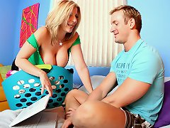 Sara Jay catches TJ watchin porn and fucks his big hard stiff