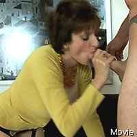 Cfnm oral-sex and titjob