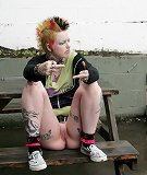 Punk teen girl
