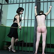 Caning of inmate girl
