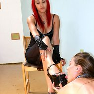 Slavegirl licks heels
