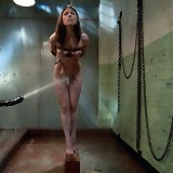 Submissive slave slut trained to fuck and suck hard cock.