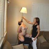 Naked girl as lamp