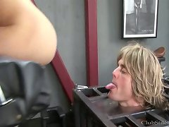 Blonde got her asshole licked