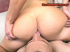 Worship of big ass and feet on lady boss