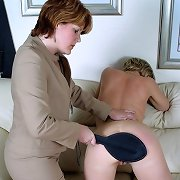 Blonde milf spanked otk