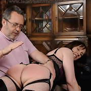 Husband spanked milf wife otk