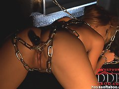 Young Cindy Hope naked in chains