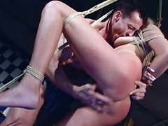 Master is going to torture his new blonde victim