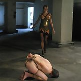 Male slave punished