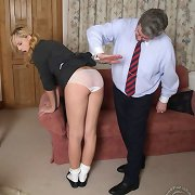 Pretty blonde schoolgirl was punished