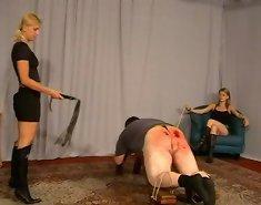 Brutal femdom caning