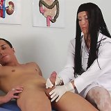 Exciting sex humiliation at male physical exam