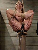 Hot Blonde Beauty in Slave Training