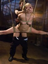 19-year old Ally Ann punished and fucked in hard bondage.