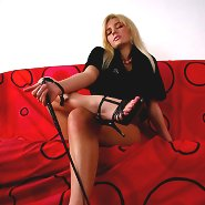Perfect blonde with adorable body is glad to demonstrate her unforgettable feet