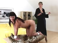 Leia tied and whipped by milf domme