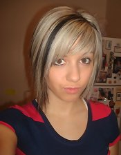 Emo babe with large melons