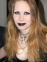 Pictures of a cocksucking gothic bitch