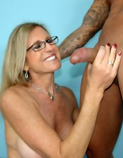MILF and Big Cock Handjobs
