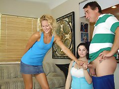 Teens JC and Chloe catch Mr. Johnson ..
