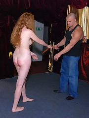 Escort girl punished in a Night Club