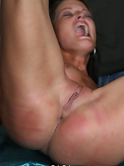 Spreading her pussy for lashes